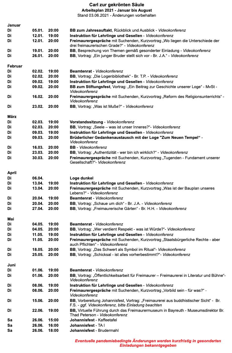 CzgS Arbeitsplan 2.HJ 2020